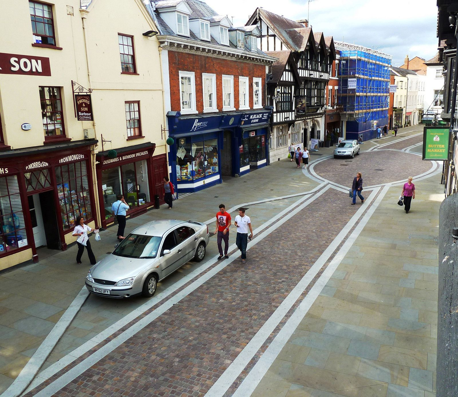 Widemarsh Street, Hereford, after _shared space_. Photo: BHB