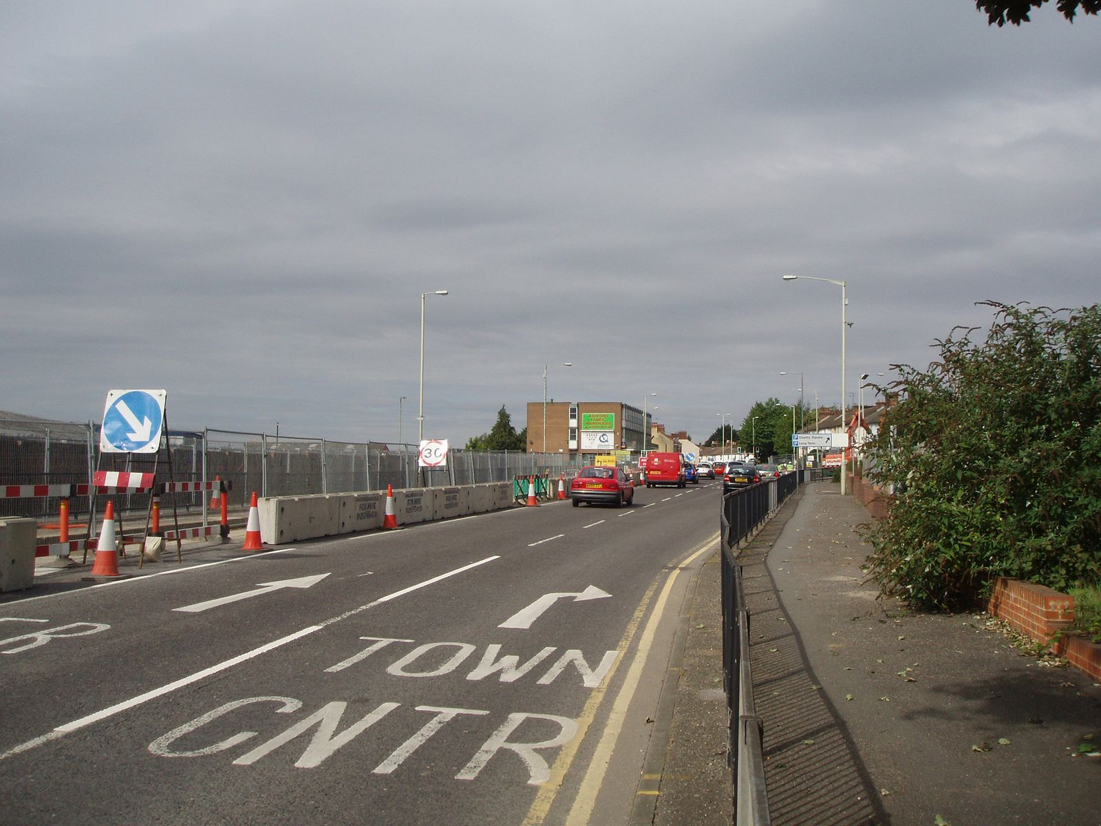 Elwick Road, Ashford, before _shared space_. Photo: BHB/Whitelaw Turkington
