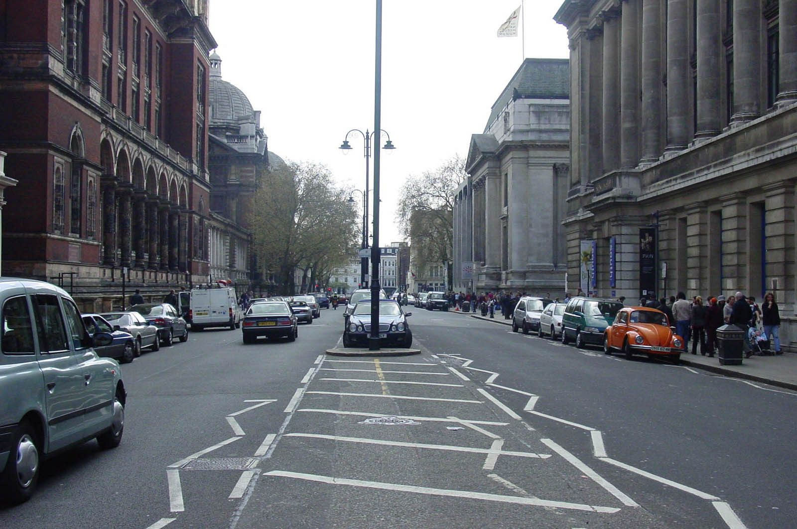 Exhibition Road, London, before _shared space_. Photo: BHB