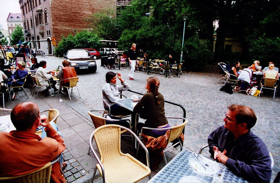 Examples of _shared space_. Lund, Sweden. Photo: BHB