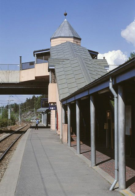 Holmlia station, 1988. Architects: NSB Arkitektkontor. Photo: Jiri Havran/Arkifoto
