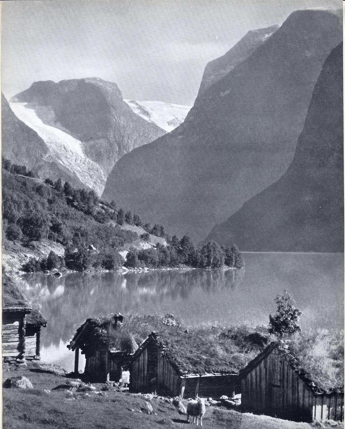 "Norway. A typical inhabited landscape. From the catalogue of the exhibition ""Design in Scandinavia"", 1954."