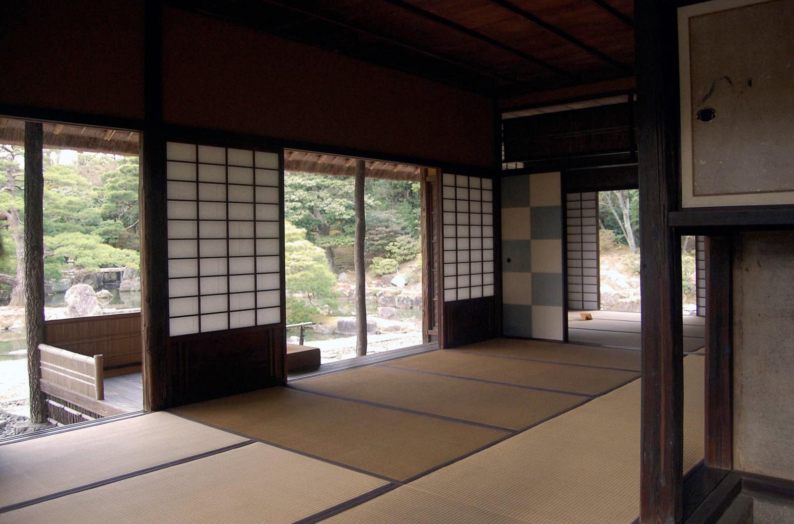 Katsura Imperial Villa, Kyoto, c. 1620's. Spatial sequence between inside and outside.