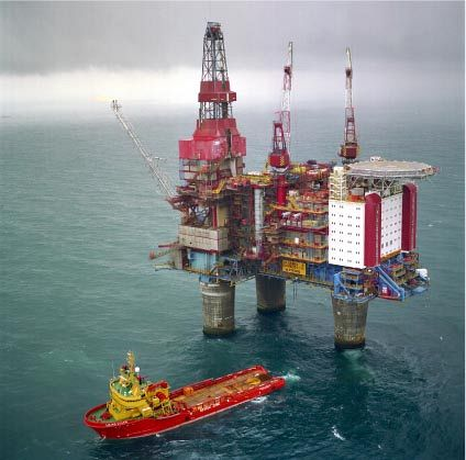 The Gullfaks B platform, the North Sea.