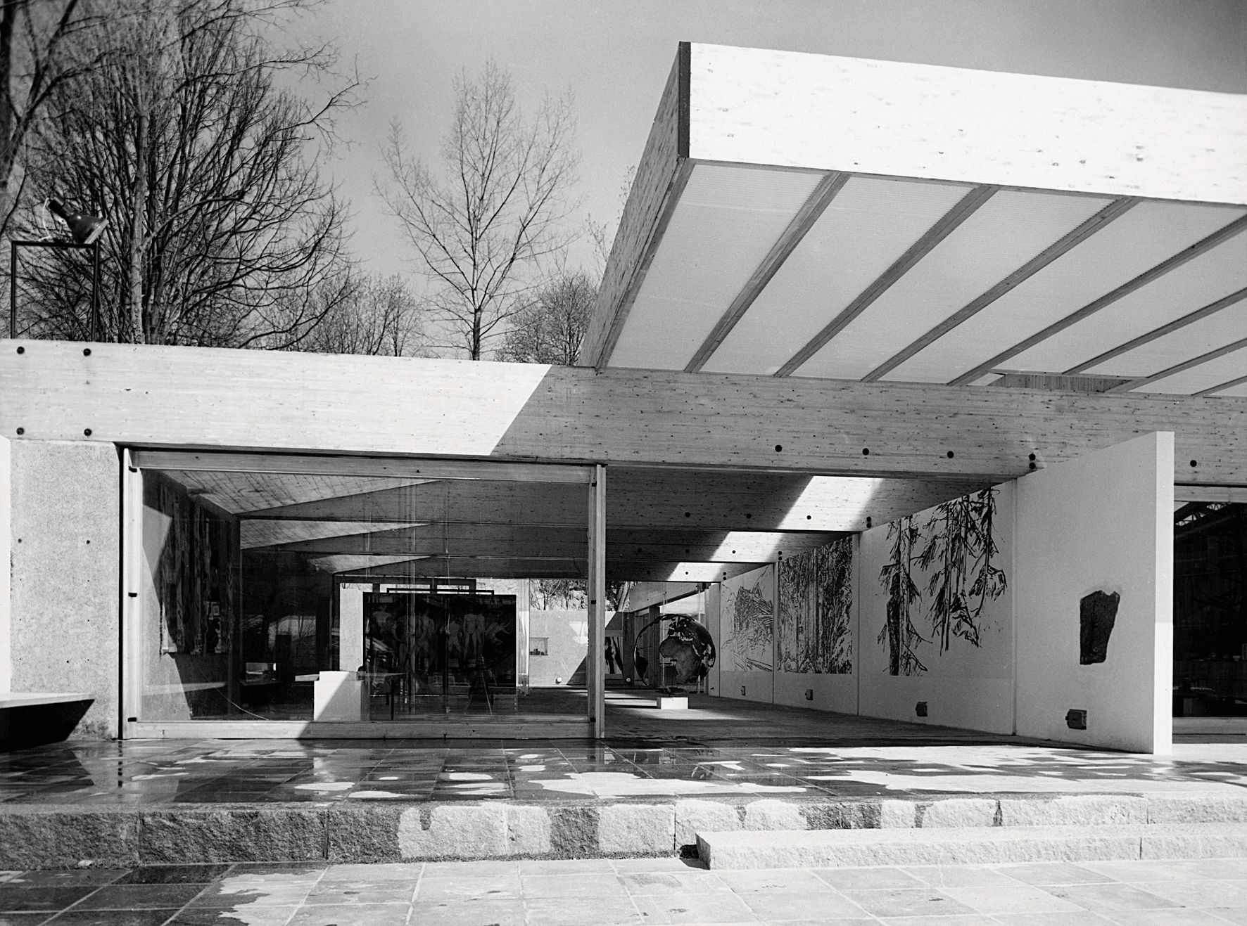 The Norwegian pavilion at the World Exhibition in Brussels, 1956–58. Photo: The National Museum of Art, Architecture and Design