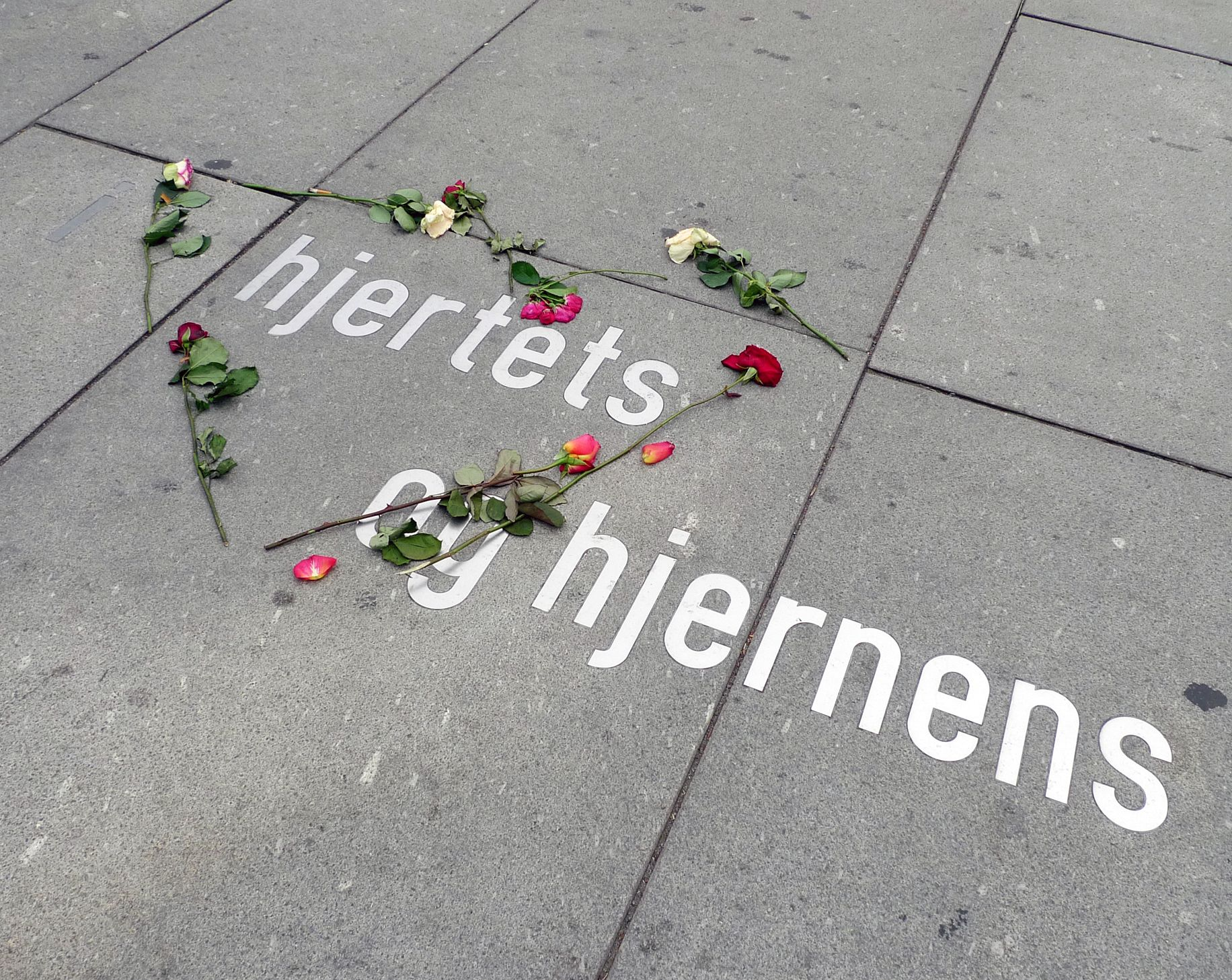 Spontaneous memorial to the victims of the 22nd July terrorist attack, Oslo.