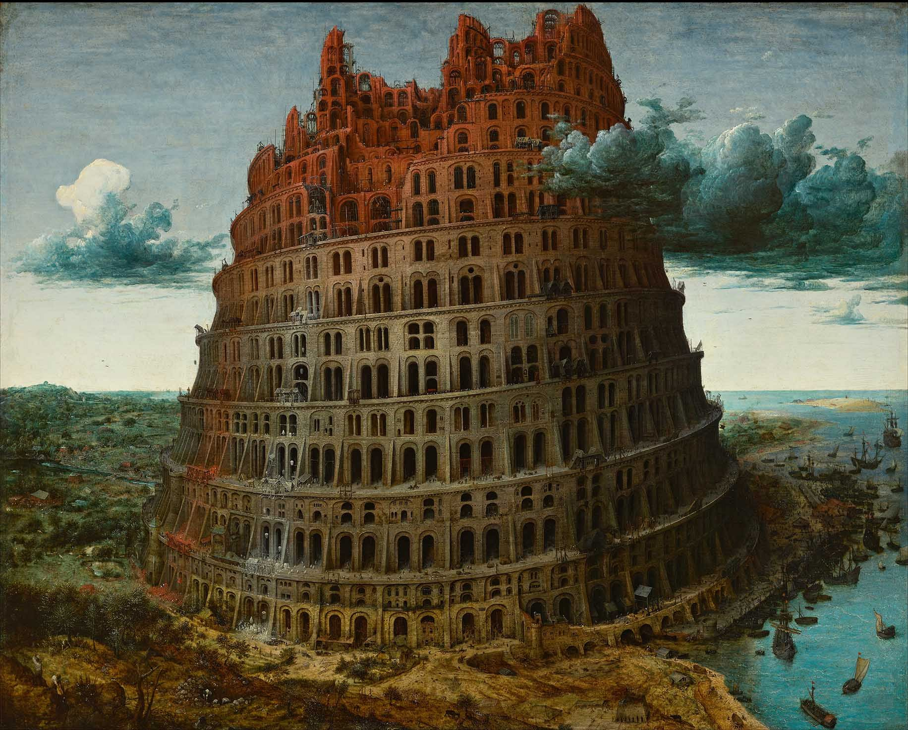 _The little Tower of Babel_, Peter Breughel the Elder, around 1563.
