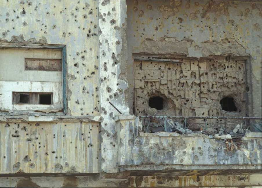 In war the opening is shut. The view becomes a sniper position. From Beirut 1995.