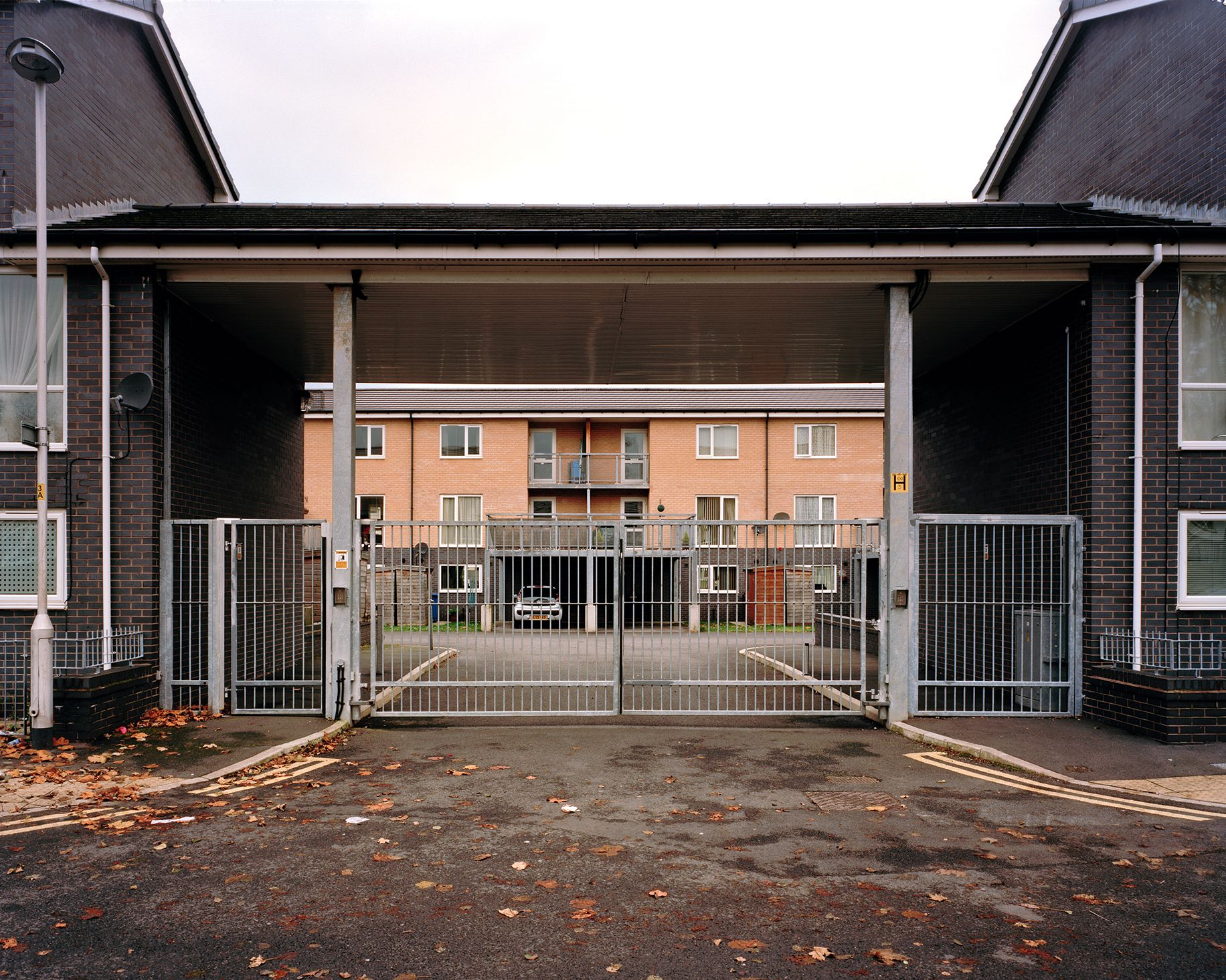 Gated development, Stockport, Greater Manchester.  Photo: Henrietta Williams