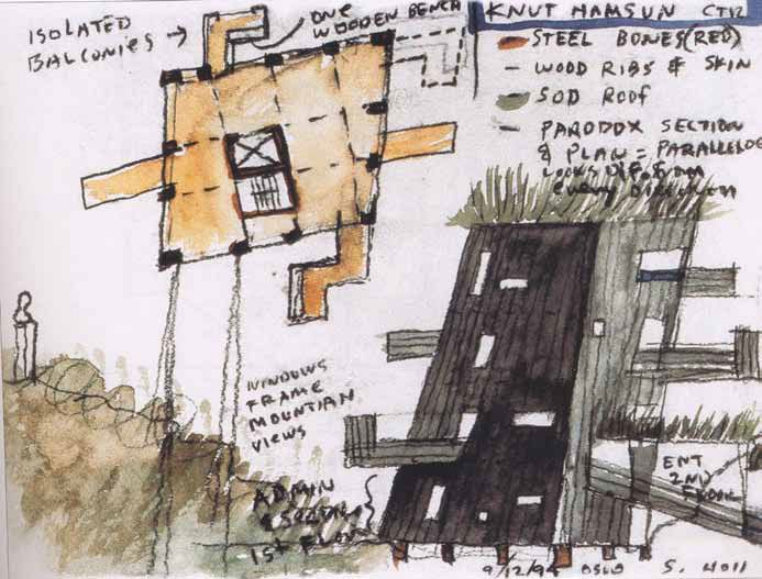 Sketches, Steven Holl.